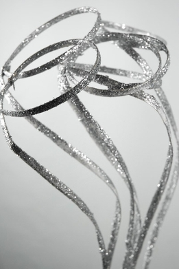 "39"" Silver Sparkle Ribbon Ting Halo Sticks"