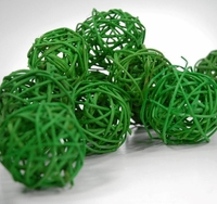 Apple Green Twig Balls 2in | Pack of 12