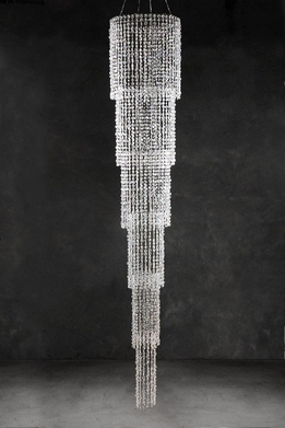 Crystal Chandelier Iridescent Cascade 9ft