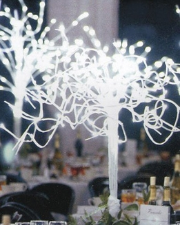 "48"" Battery Operated 20 Branches 91 White LED Lights Bendable"