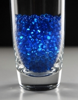4mm Blue Pearl Glass Vase Gems 1 lb.