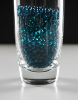 4mm Teal Pearl Glass Vase Gems 1 lb.