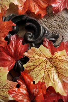 Fall Maple Leaves Orange & Yellow (100 leaves/pkg)