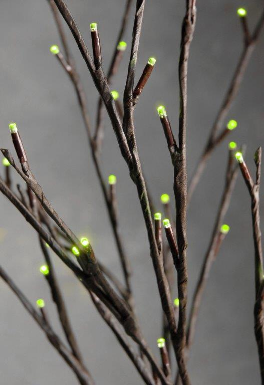 LED Lighted Branches Chartreuse Green