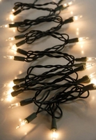 35 Clear Mini String Lights | Green Wire | 35 bulb