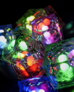 8-Mode Programmable Waterproof Crystal Cubes (Set of 8)