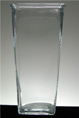 Tapered Rectangular Vase with Lip