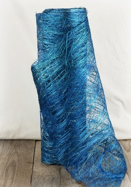 "Abaca Fabric Fiber Azure Blue 19"" x 10 yards"