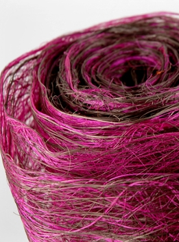 "Abaca Fiber Roll Fuchsia 19"" x 10 yards"