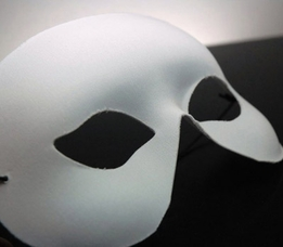 Adult Half Face Blank White Masks