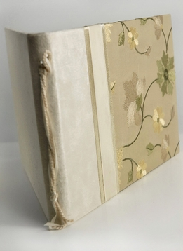 Alabaster Amber and Taupe Crystal Bouquet Wedding Guest Book