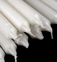"Altar Formal Taper Candles (cotton wicks- 8 hours) 10"" White (10 candles)"