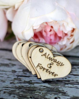 "Always & Forever Birch Wood 2"" Tags (pkg/10 tags)"