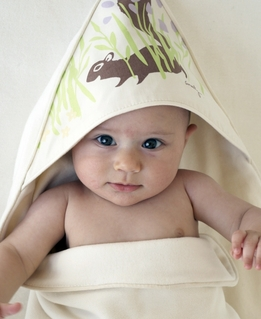 Amenity's Organic Hooded Baby Towel Squirrel