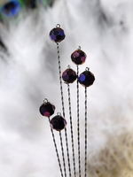 Aphiria Crystal Glass & Steel - Purple Rainbow 6 wires