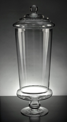 "Apothecary Jars 19"" Glass"