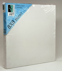 "Art Alternatives Studio Stretched Canvas 8 x 8 x 7/8"" deep"