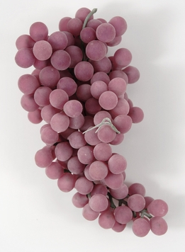 "Artificial Grapes Matte Rose 7"" Round Grapes"