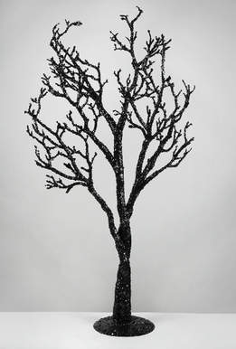 Artificial Trees Black Glitter 39""