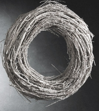 Aspen Deco Alpine 15 in. Natural Twig Wreath