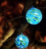 Aurora Glow Solar String Lights | Blue