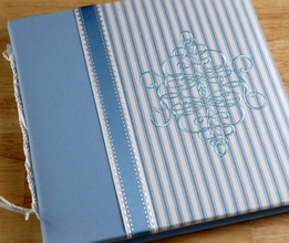 Baby's First Year Book Blue & White Striped Pierre Baby Boy