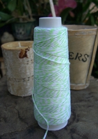Bakers Twine Lime Green & White 100 yards