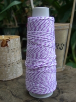 Bakers Twine Puple & White 100 yards