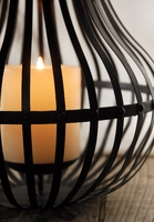 "Bali Bamboo & Metal Lantern 24"" Candle Holder"
