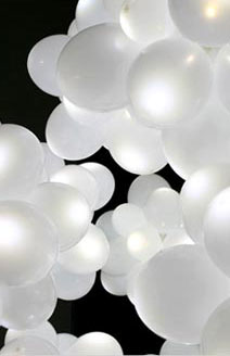 Balloon Lights: Five White Balloons with LED Lights