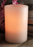 Battery Operated Pillar LED Candle White 6in