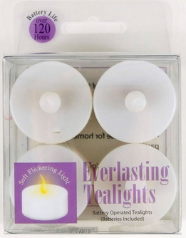 Battery Operated Tealights Flickering (4 candles)
