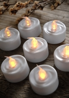 Battery Operated Tealights LED Candles (24 candles)