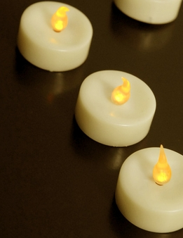 Battery Operated Tealights LED Ivory