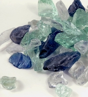 Beach Glass Assorted Colors. Clear, Green & Blue 1.5 lbs