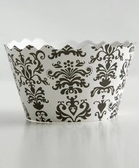 Bella Cupcake Wrappers Lulu Black & White