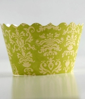 Bella Cupcake Wrappers Lulu Chartreuse & Yellow