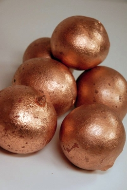 Bellani Pod Balls Painted Metallic Copper