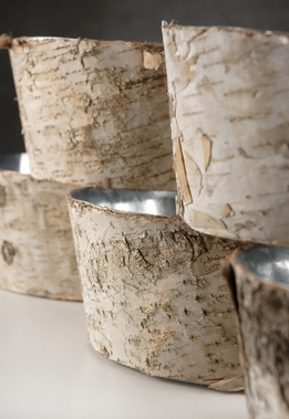 Birch Bark Pots Vases 8x4
