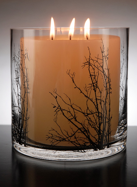 Winter Thicket Cylinder Candle Holder