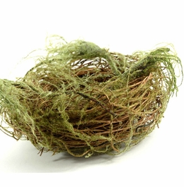 Bird Nest with Faux Moss 7""