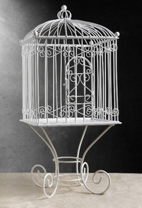 Square Bird Cage with Stand 21in