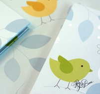 Birdie Blue Guest Book from Rag & Bone Bindery