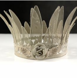 "Bisque 6"" Metal Mesh Crown"