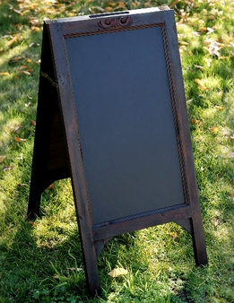 Black Boards Large Wood Framed Standing Chalkboard Easels (two sided)