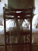 Black Organza Chair Bows (Pack of 10)