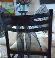 Black Organza Chair Sashes (Pack of 10)