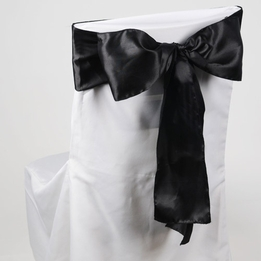 Black Satin Chair Sashes (Pack of 10)