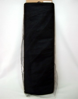 "Black Tulle 54"" x 40 yards ("