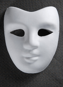 Blank Masks Paper Full Face
